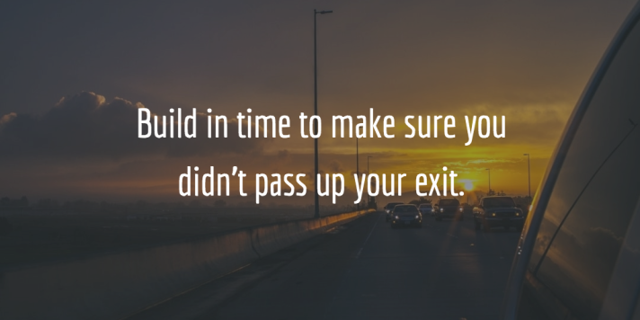 Passing your exit